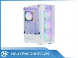 Vỏ case máy tính Montech X1 - White (4 FAN LED RGB cài đặt sẵn)