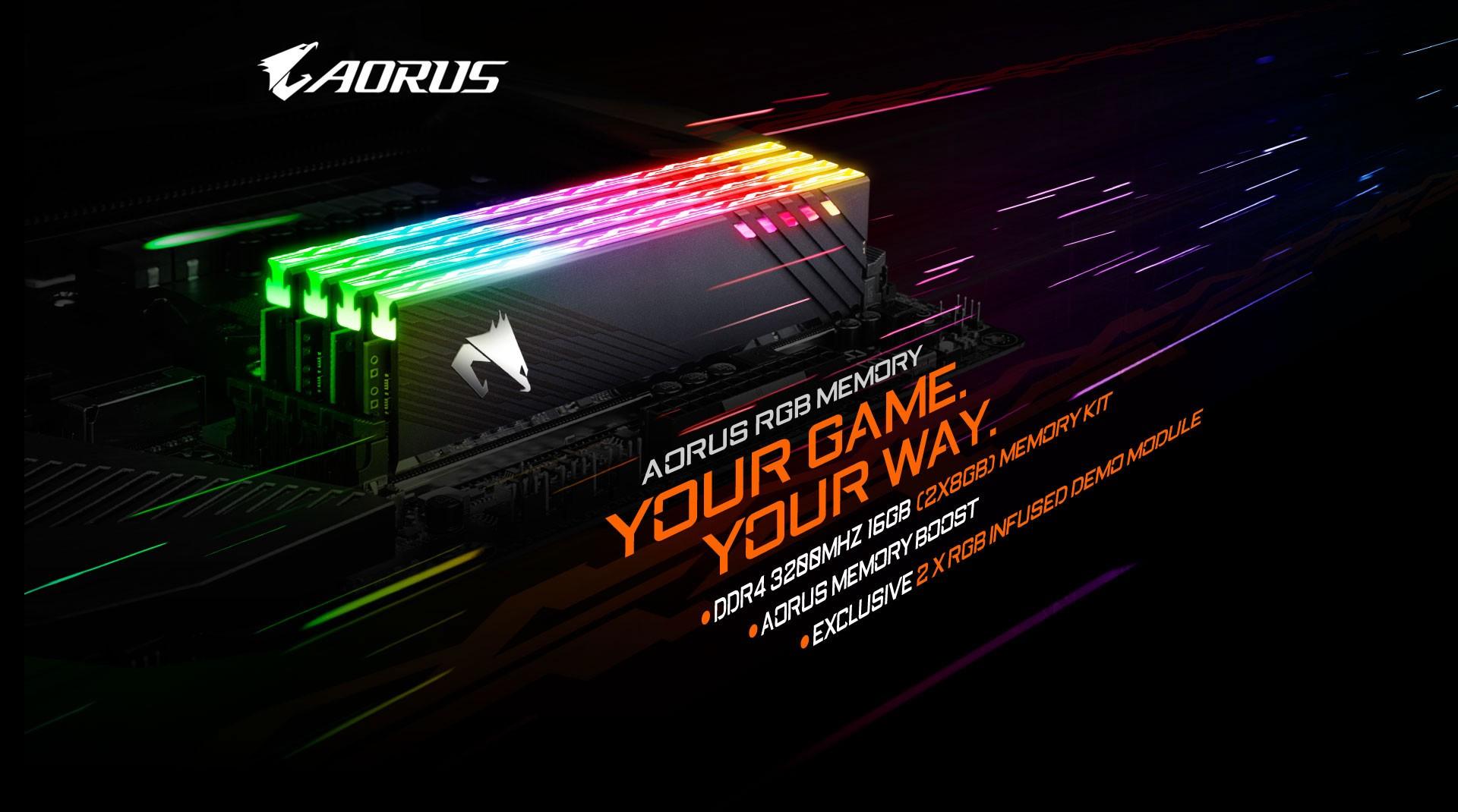 Ram Gigabyte AORUS RGB Memory 16GB (2x8GB) 3200MHz (With Demo Kit)