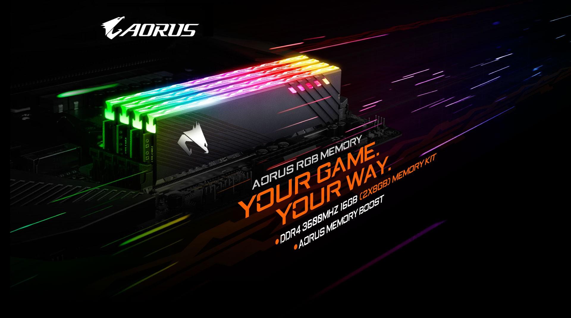 Ram Gigabyte AORUS RGB Memory 16GB (2x8GB) 3600MHz