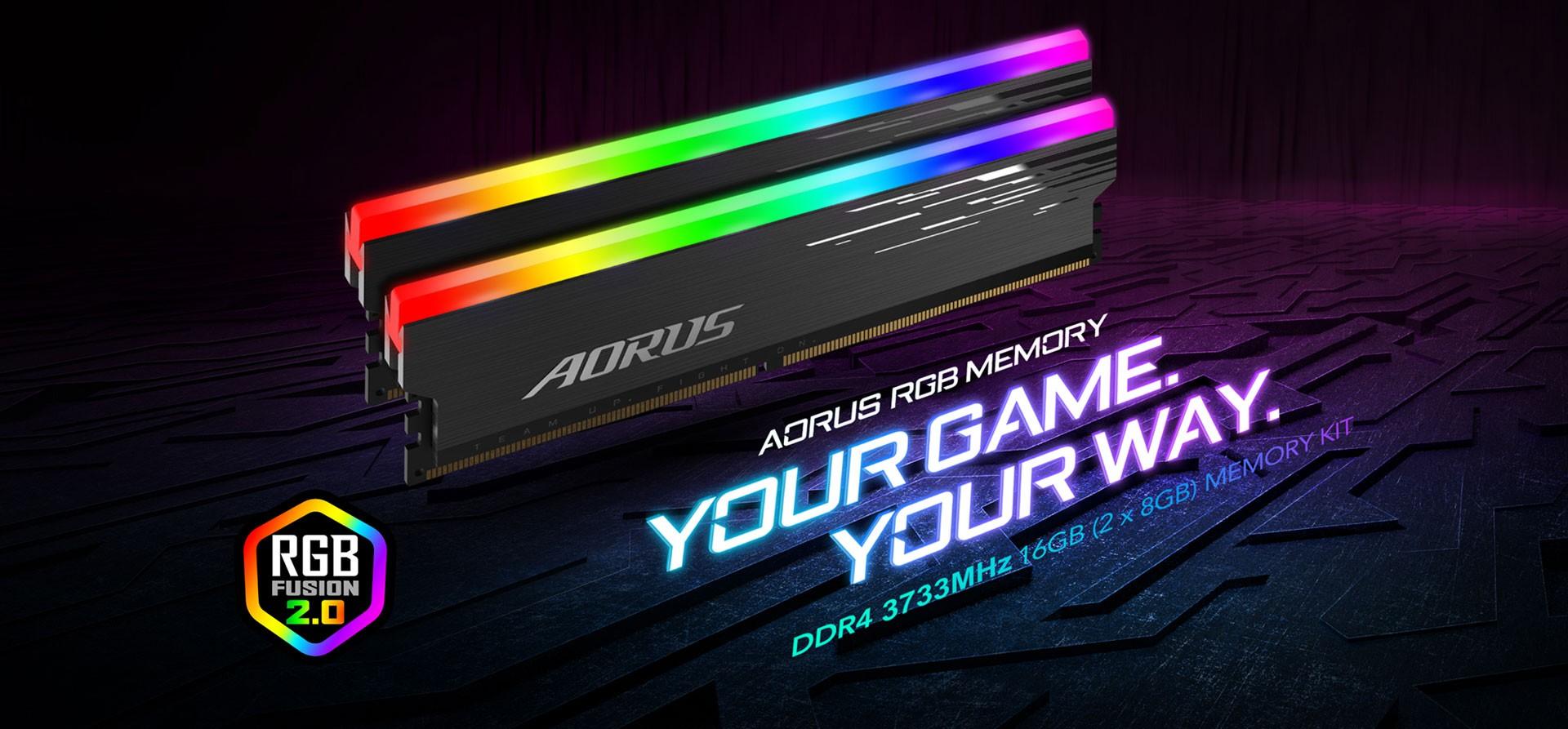 Ram Gigabyte AORUS RGB Memory DDR4 16GB 3733MHz