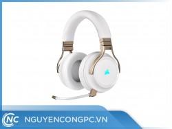 Tai Nghe Không Dây CORSAIR VIRTUOSO RGB Wireless Pearl (CA-9011224-AP)