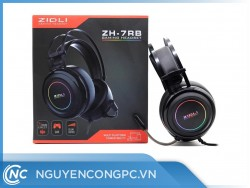 Tai Nghe Gaming ZIDLI ZH-7RB (7.1, USB, LED, Pro/A-Color Box)