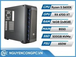 Bộ PC AMD Ryzen 5 5600X | RX 6700 XT | RAM 16GB