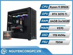 Bộ Máy Tính AMD Ryzen 9 5950X | RTX 3070 Ti | RAM 64GB
