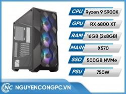 Bộ PC AMD Ryzen 9 5900X | RX 6800 XT | RAM 16GB