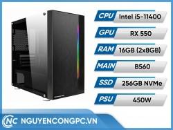Bộ PC Intel Core i5-11400 | RAM 16GB | VGA RX 550