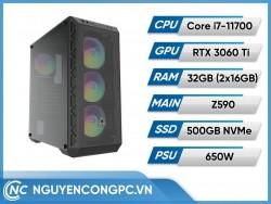 Bộ Máy Tính Intel Core i7-11700 | RTX 3060 Ti | RAM 32GB