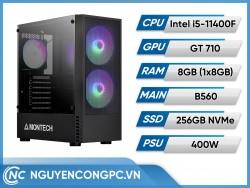 Bộ PC Intel Core i5-11400F | VGA GT-710