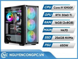 Bộ PC Intel Core i9-10900F | RTX 3060 Ti | RAM 16GB