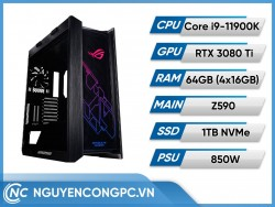 Bộ PC ROG Strix Intel Core i9-11900K | RTX 3080 Ti