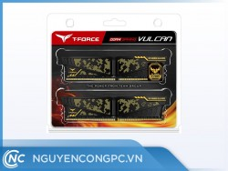 RAM TEAMGROUP T-Force Vulcan TUF Gaming Alliance Yellow 32GB (16GBx2) Bus 3200 CL16 DDR4