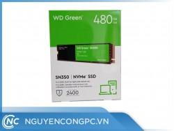 Ổ Cứng SSD WD Green SN350 480GB (M.2 2280 | PCIe NVMe Gen3x4 | 2,400/1,650 MB/s | WDS480G2G0C)